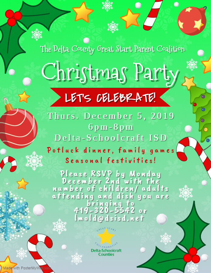 12-5-19 Delta Great Start Parent Coalition Christmas Party